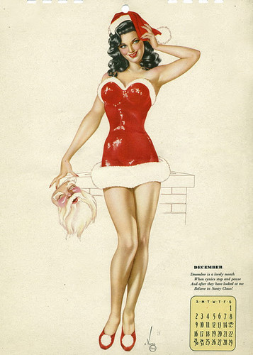 Weihnachten Pin Up Girl