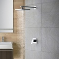 Chrome Wall Mount Rain Single Handle Shower Faucet