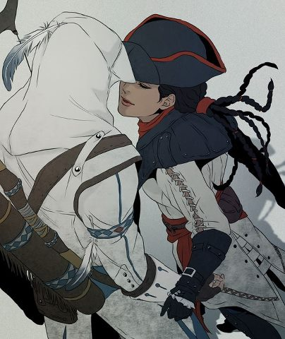 Connor And Aveline The Assassin S Fan Art 33064026 Fanpop