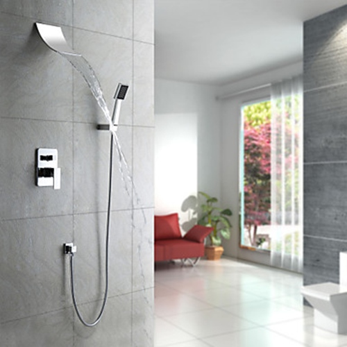 Faucets images Contemporary Waterfall Shower Faucet with Shower ...