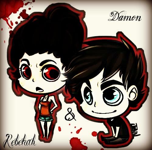 Damon & Rebekah (Reb's my O.C RP)