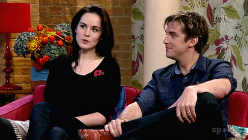 Dan Stevens & Michelle Dockery appear on 'This Morning' talking about their characters