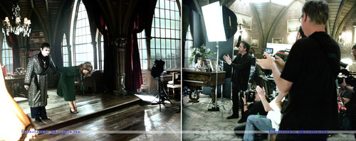 Dark Shadows on set