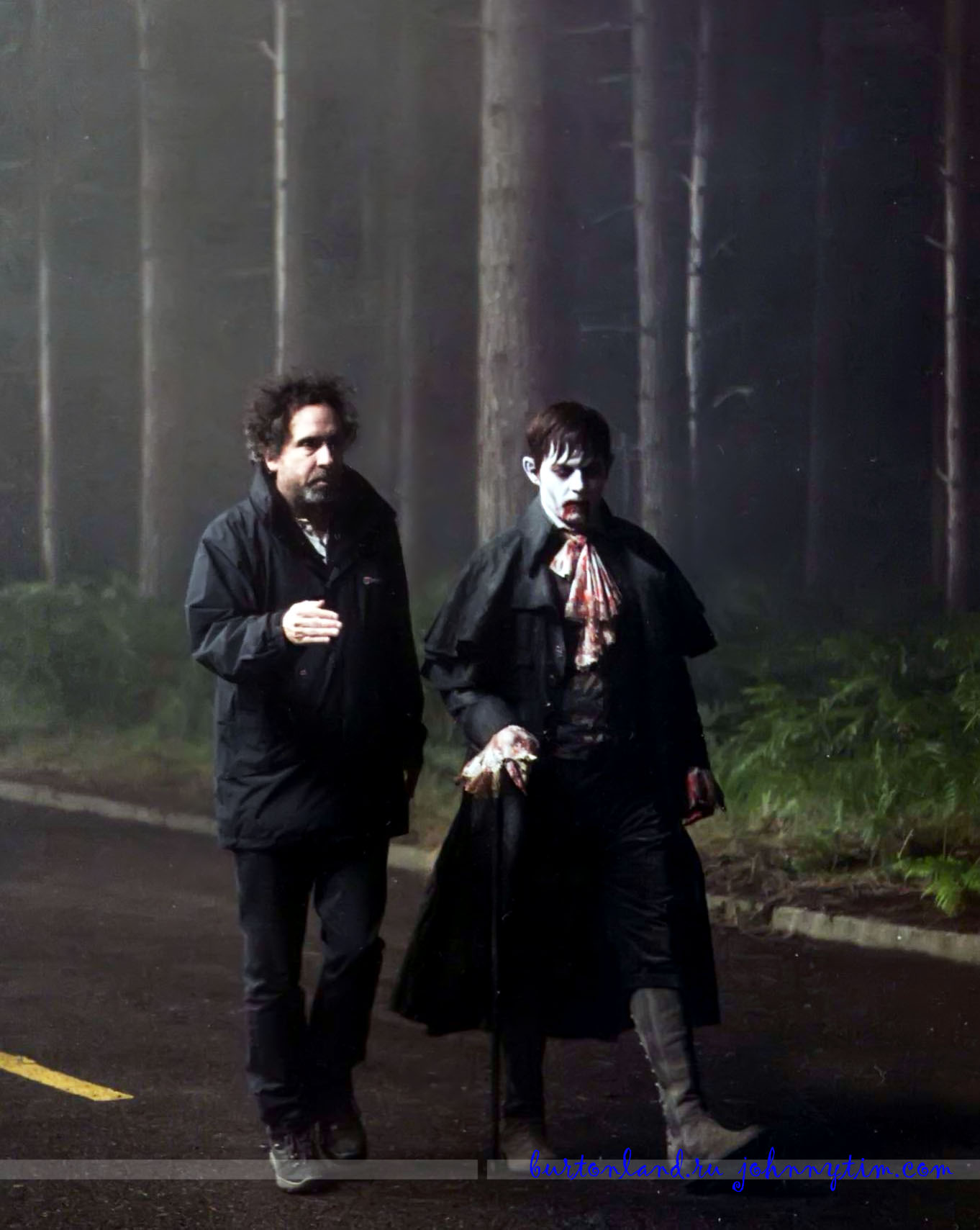 Dark Shadows on set
