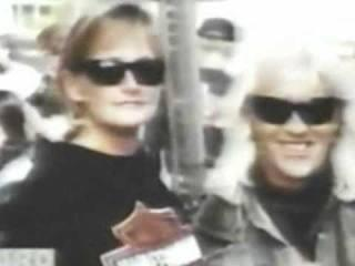 Debbie Rowe with a friend 1997
