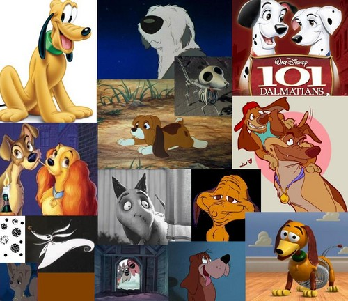 Disney Dogs Collage( plus a couple friends)
