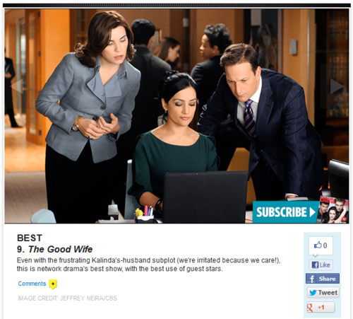 EW / 10 Best (and 5 Worst) TV Shows of 2012: Ken Tucker's Picks