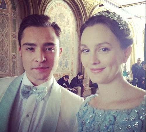 Ed and Leighton from Chuck&Blair wedding filming :D