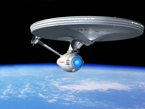 Enterprise in earth orbit
