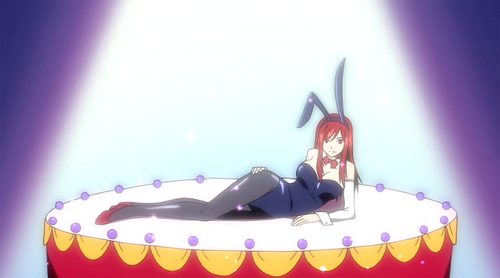 FAIRY TAIL(フェアリーテイル) 壁紙 entitled Erza bunny costume