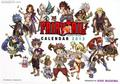 Fairy Tail calendar 2013 characters