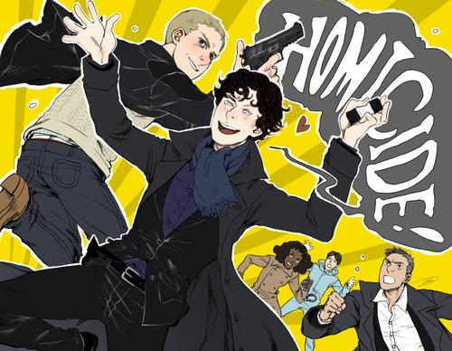 Sherlock in der BBC Hintergrund containing Anime entitled Fanart