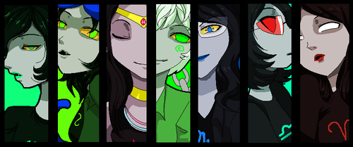 Homestuck wallpaper titled Female trolls