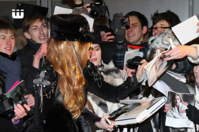 GaGa arriving in Moscow, Russia