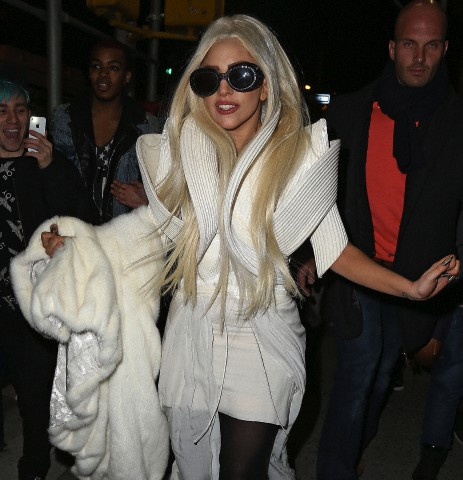 Gaga out in NYC (Dec. 14)
