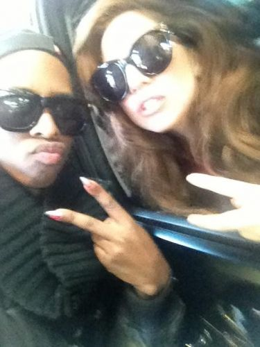 Gaga with fan in NYC