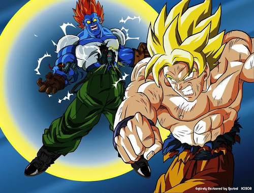 Dragon Ball Z achtergrond with anime titled Goku vs Super Android 13