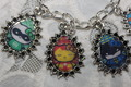 Hello Kitty Superheroes charm bracelet  - hello-kitty fan art