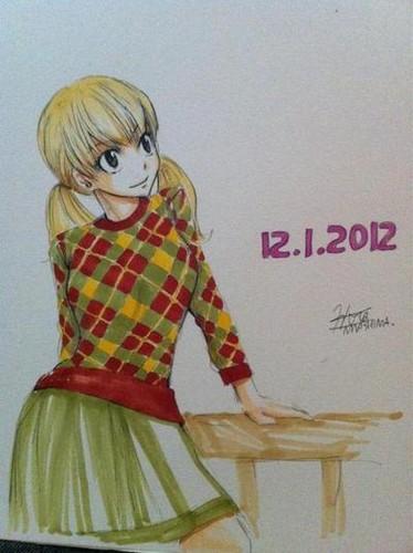 Hiro Mashima draws