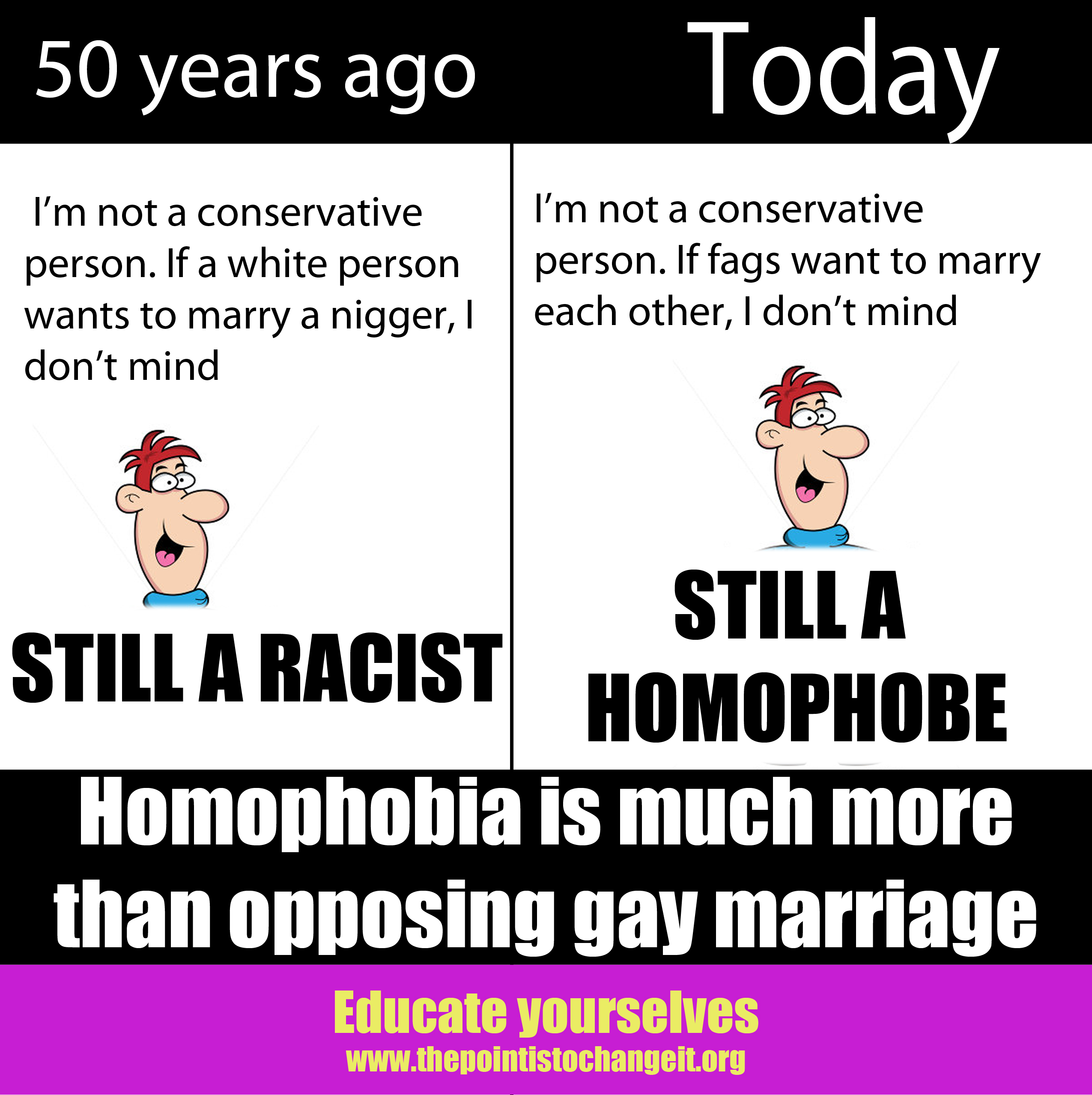 Homophobic are homosexual marriages