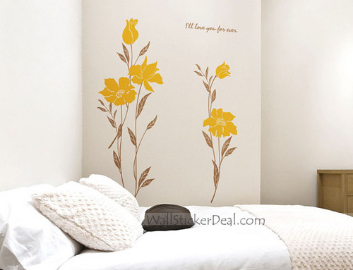 I'll Love You Forever Flower Wall Decals
