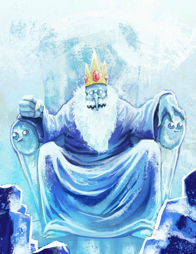 Ice king's throne realistic