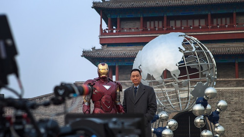 Iron man 3 on set