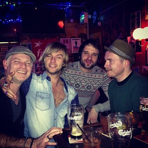 Keith Harkin Hintergrund with a brasserie and a bistro called It's good to be Home
