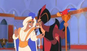 Jafar being selfish to Aladdin