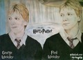 James & Oliver-Fred & George Weasley-Harry Potter - harry-potter-movies fan art