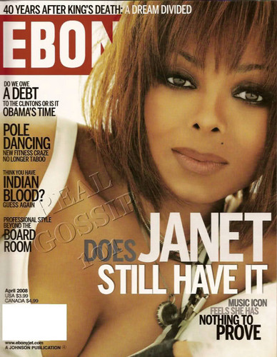 "Janet Jackson wallpaper with a portrait titled Janet On The Cover Of ""EBONY"" Magazine"