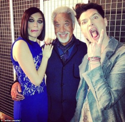 Jessie J, Tom Jones and Danny O&#39;Donoaghue <3