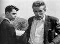Jimmy with Sal Mineo - james-dean photo