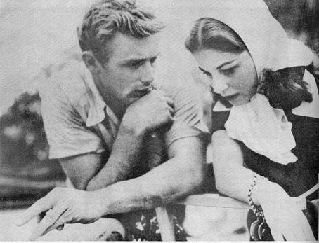 James Dean wallpaper probably containing a sign and a neonate titled Jimmy with Pier Angeli
