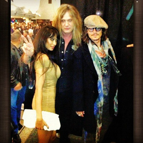 Johnny Depp at Alice Cooper's クリスマス Pudding, December 8