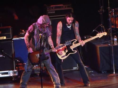 Johnny Depp at Alice Cooper's concert
