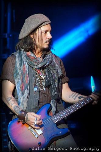 Johnny Depp at Alice Cooper's konzert