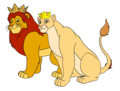 King Simba and Queen Nala