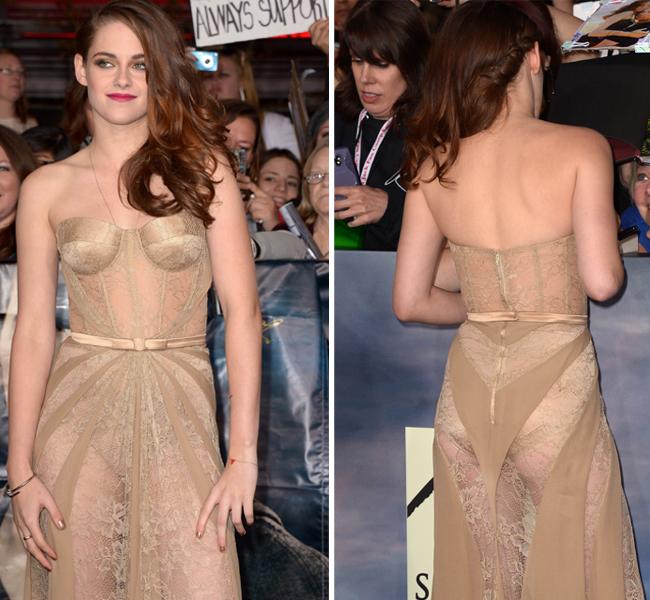 Kristen stewart nude dress