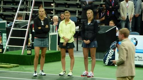 Maria Sharapova wallpaper possibly with a tennis player, a tennis pro, and a tennis racket called Kvitova,Safarova,Sharapova