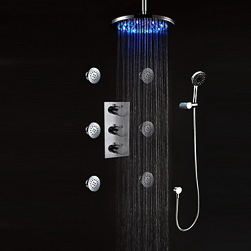 shower faucet with bodysprays chrome finish wallpaper in the faucets