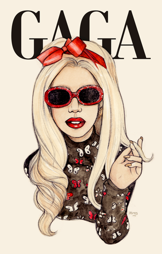 Lady Gaga kertas dinding possibly with sunglasses titled Lady GaGa