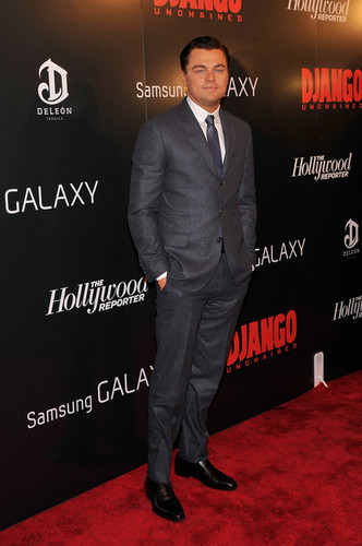 "Leonardo DiCaprio attends a screening of ""Django Unchained"""