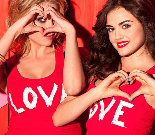 Lucy Hale & Ashley Benson wallpaper titled Lucy and Ashley - Bongo