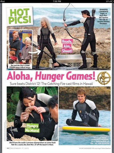 Catching Fire wallpaper called Magazine