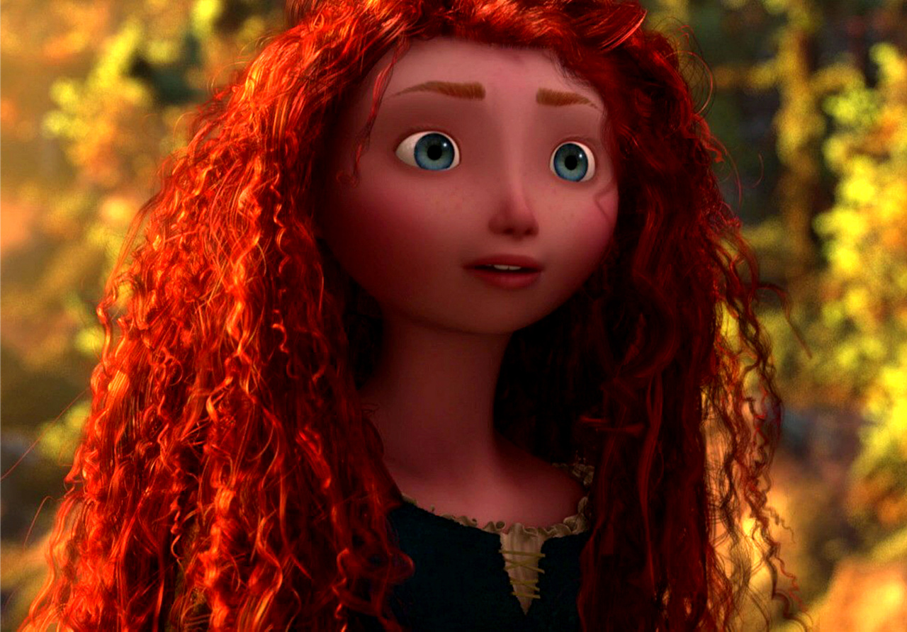 This is a graphic of Smart Pictures of Merida From Brave