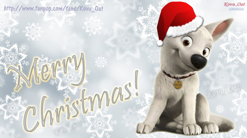 Merry Christmas Disney Cute Bolt پیپر وال HD