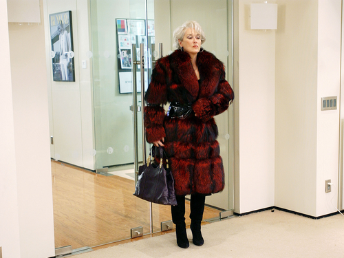 Meryl Streep wallpaper with a fur coat, a mink, and a sable coat entitled The Devil Wears Prada