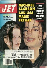 "Michael And Lisa Marie On The Cover Of The 1994 Issue Of ""JET"" Magazine"