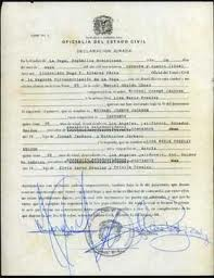 Michael And Lisa Marie's Marriage License
